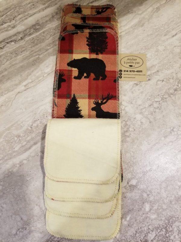 Papier hygiénique réutilisable ours