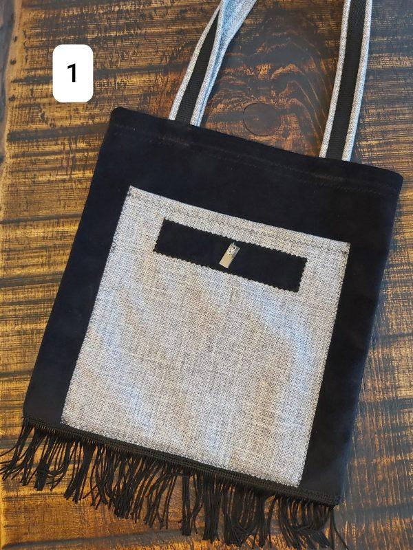 Tote bag noir frange 26,95$ Shipping 4,95$