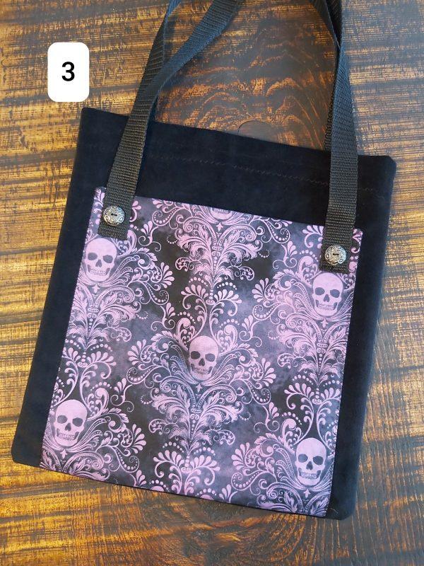 Collection Skull Tote bag violet et noir 26,95$ Shipping 4,95$