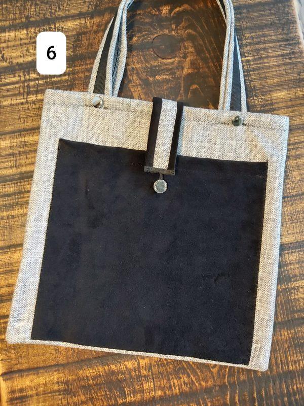 Tote bag gris et noir 24,95$ Shipping 4,95$
