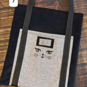 Tote bag noir et gris chat 24,95$ Shipping 4,95$