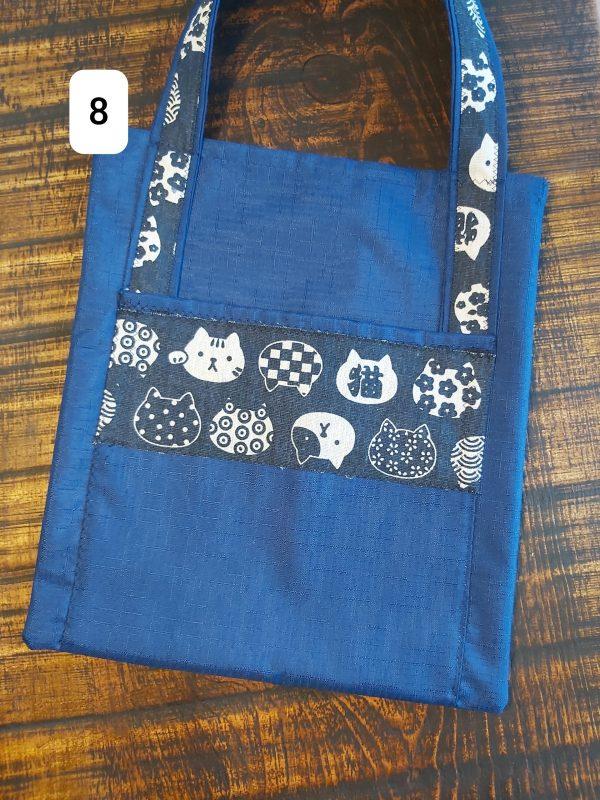 Tote bag bleu chat 18,95$ Shipping 4,95$