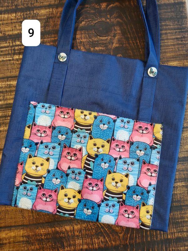 Tote bag chats bleu $18,95 Shipping 4,95$
