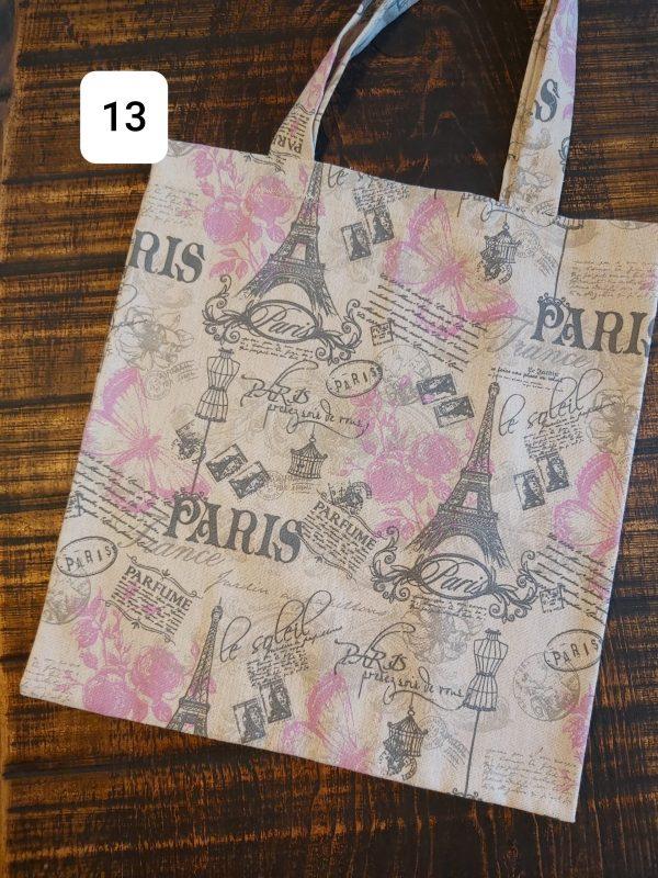 Tote bag Paris gris rose 14,95$ Shipping 4,95$