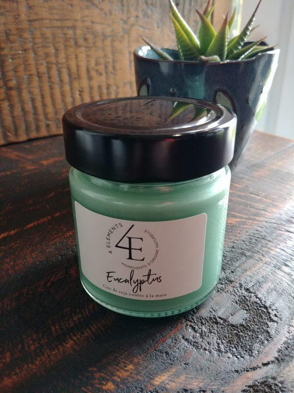 Chandelle 4 éléments Eucalyptus