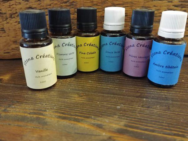 Huiles aromatiques . ideal pour les diffuseurs et balles de séchage.