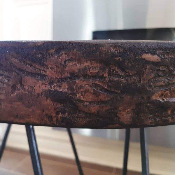 Table d'appoint hairpin legs 21'' h x 19'' L 149$ pas de livraison Frêne huilé grenoble