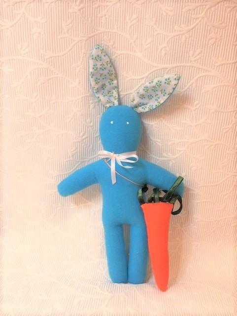lapin carotte turquoise