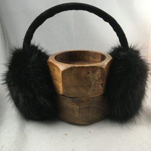 Cache-oreilles en fourrures recyclées