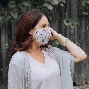Chaîne pour masque rose