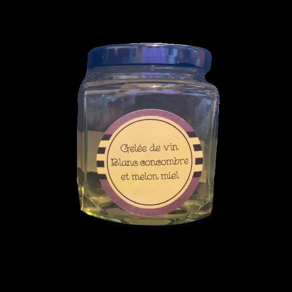 Gelée de vin blanc - Concombre & Melon Miel