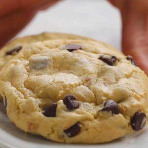 Préparation biscuits brisures de chocolat