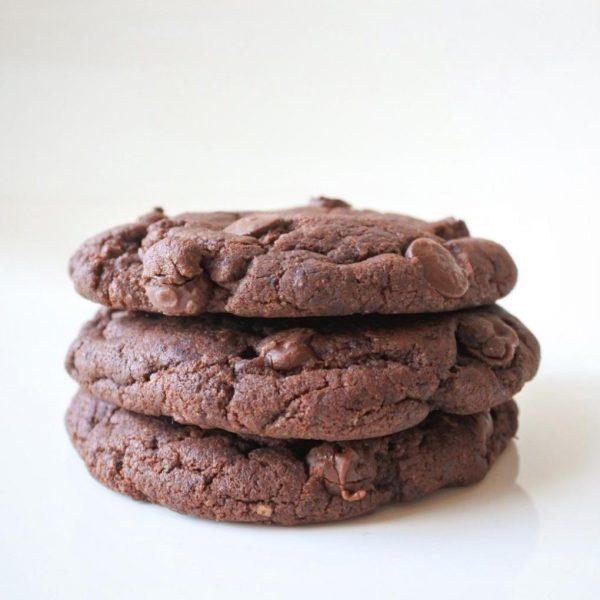 préparations biscuits double chocolats