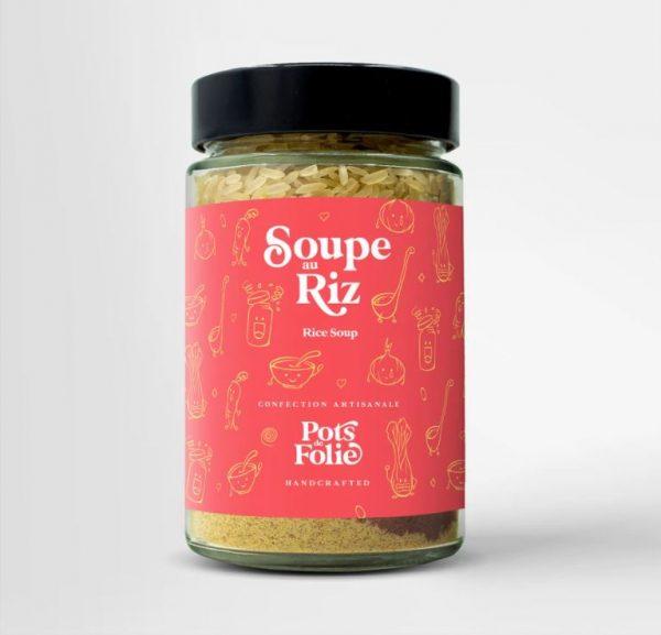 Soupe au riz végétarienne