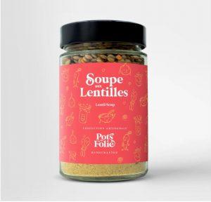 Soupe aux lentilles végétarienne
