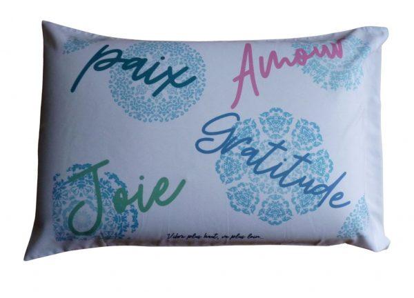Taie d'oreiller - Paix, amour, joie, gratitude
